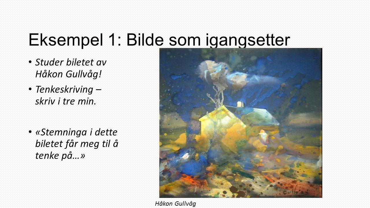 Eksempel 1: Bilde som igangsetter Studer biletet av Håkon Gullvåg.