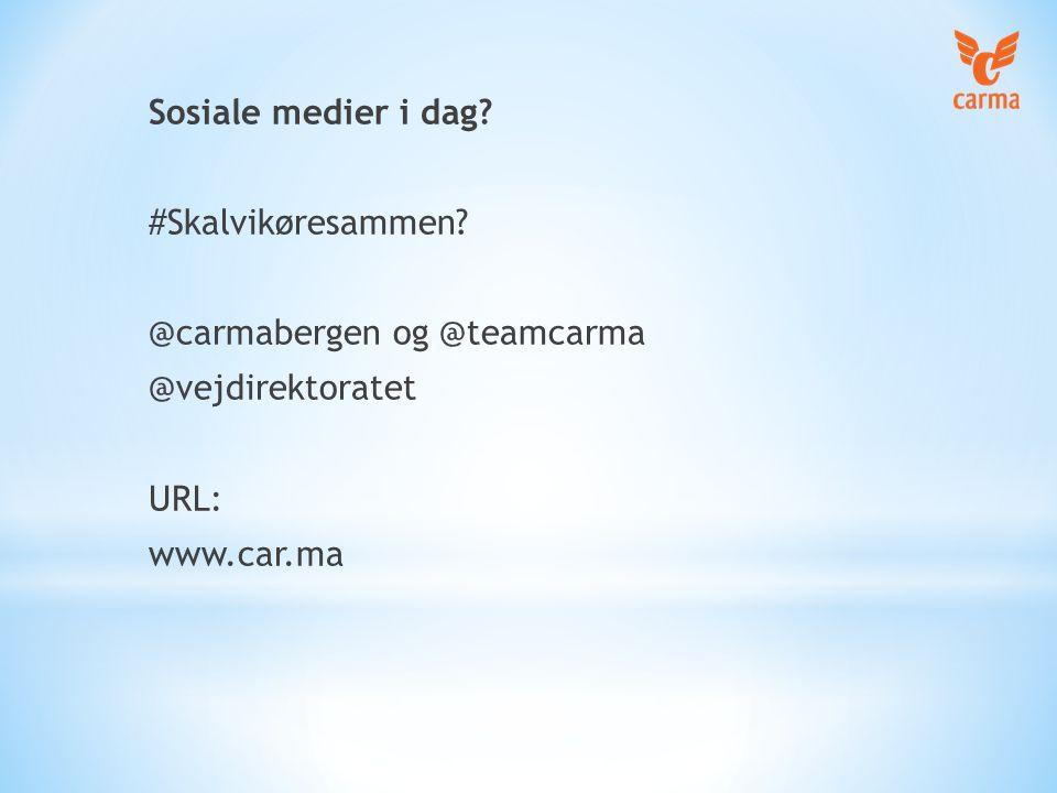 NavnVirker i Bergen God bruker- support Erfaren part som kan støtte lokalaktivitet Forbedrer app basert på forslag Leverer statistikk CARMA (AVEGO)  ANNEN APP # 1  ANNEN APP # 2  HENTMEG  NA Jeg søkte i 2010 etter en app på verdensmarkedet