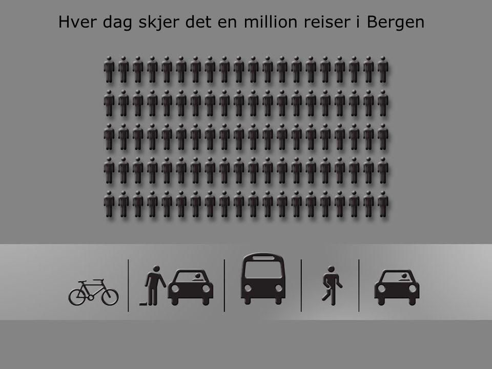 Hver dag skjer det en million reiser i Bergen