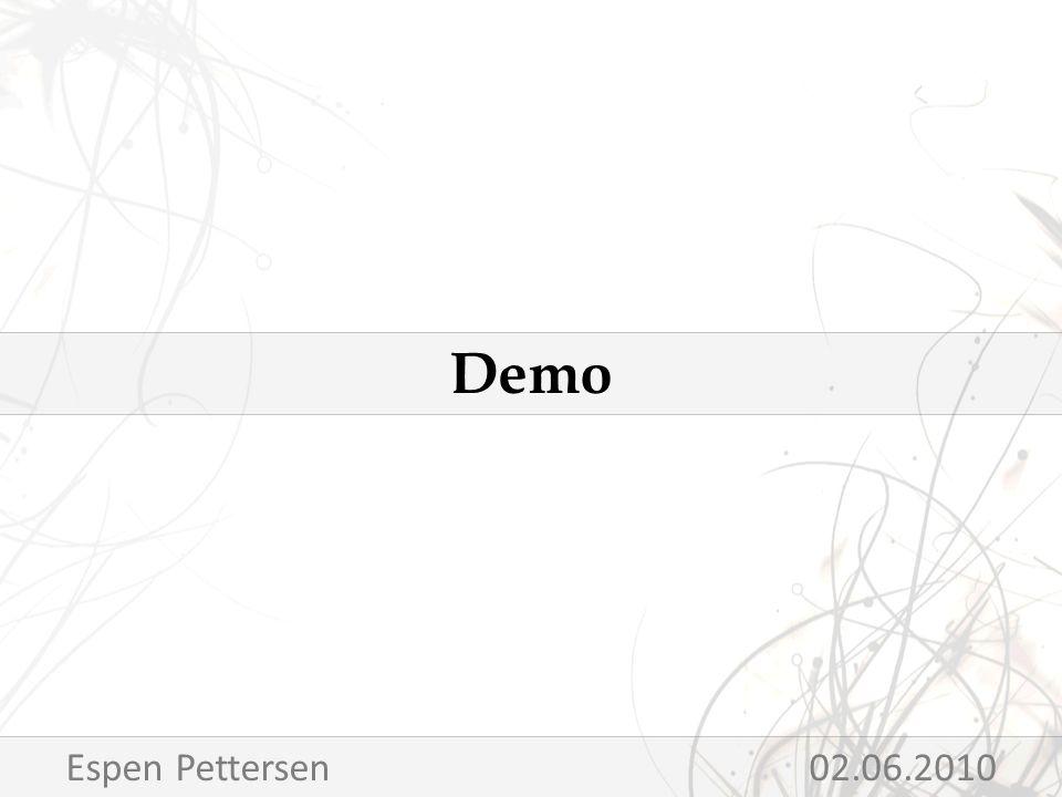 Demo Espen Pettersen 02.06.2010