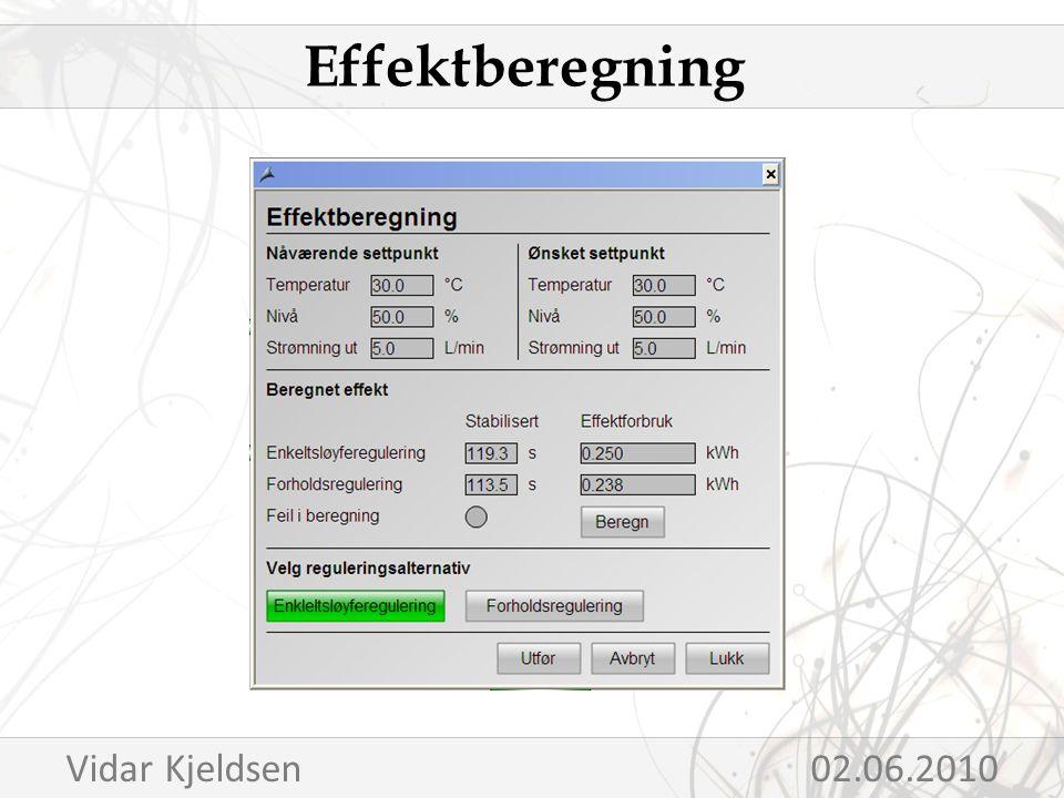 Effektberegning Vidar Kjeldsen 02.06.2010