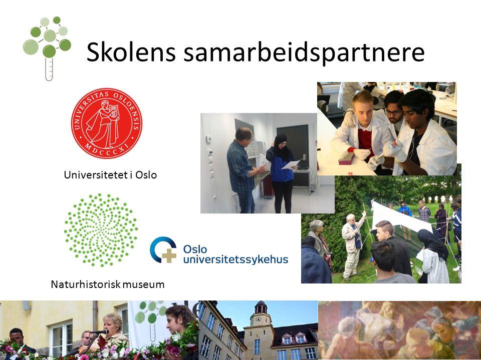 Skolens samarbeidspartnere Universitetet i Oslo Naturhistorisk museum