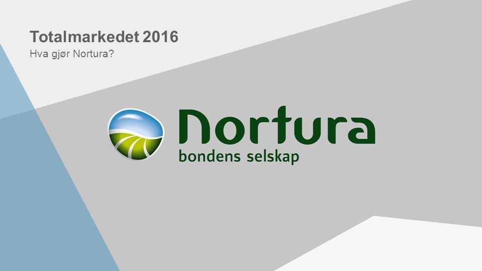 Totalmarkedet 2016 Hva gjør Nortura?
