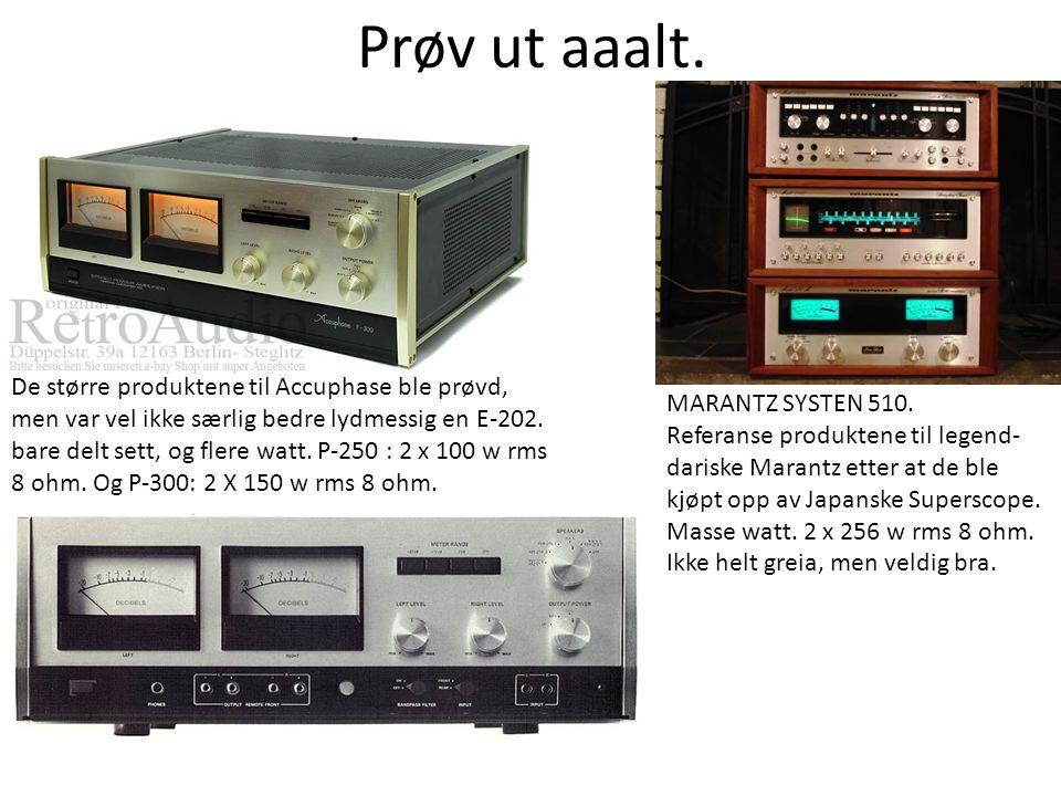 Prøv ut aaalt. MARANTZ SYSTEN 510. Referanse produktene til legend- dariske Marantz etter at de ble kjøpt opp av Japanske Superscope. Masse watt. 2 x