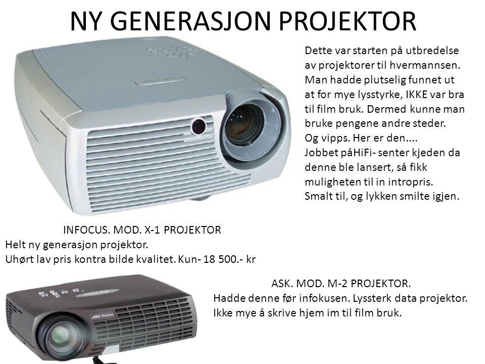 NY GENERASJON PROJEKTOR INFOCUS. MOD. X-1 PROJEKTOR Helt ny generasjon projektor.