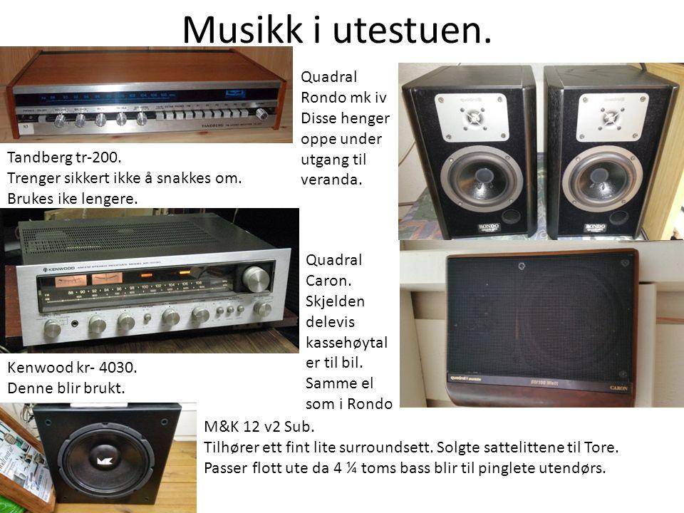 Musikk i utestuen. Tandberg tr-200. Trenger sikkert ikke å snakkes om.
