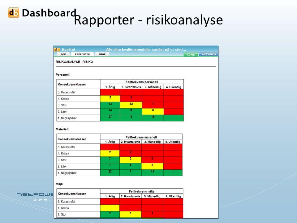 Rapporter - risikoanalyse