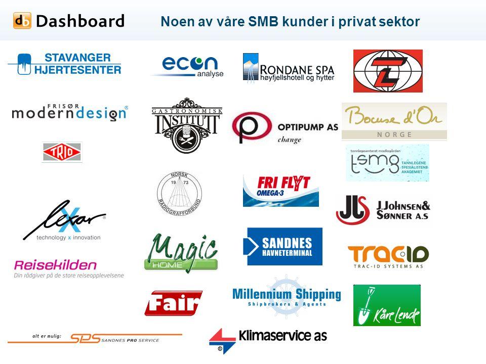 Noen av våre SMB kunder i privat sektor