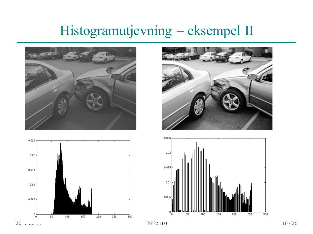 2011.02.15INF231010 / 26 Histogramutjevning – eksempel II