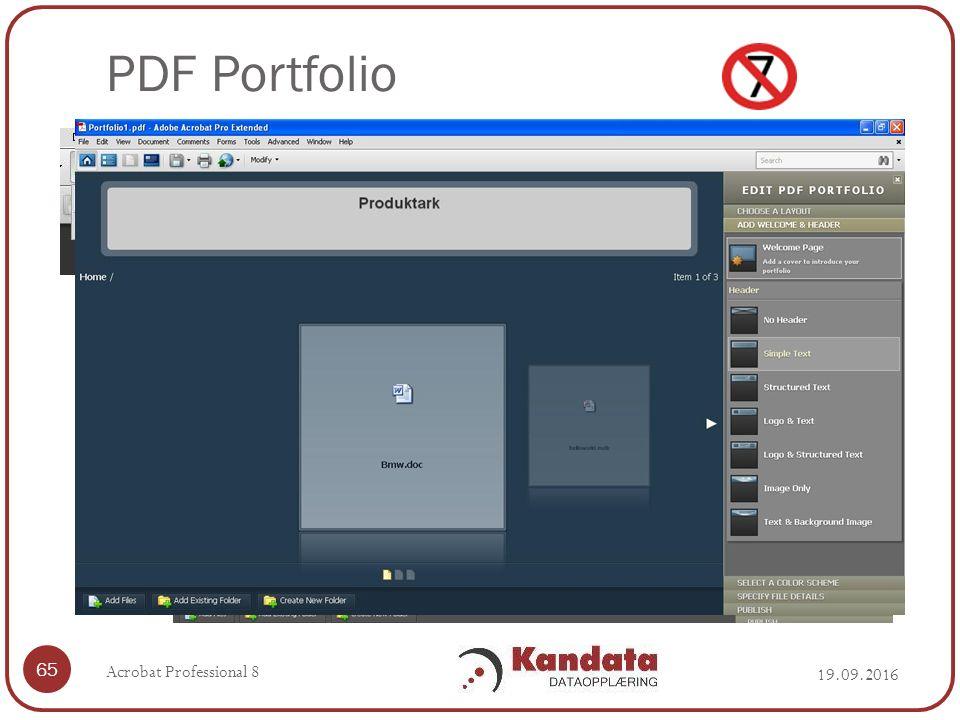 PDF Portfolio 19.09.2016 Acrobat Professional 8 65