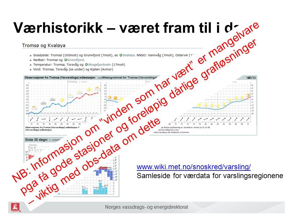Norges vassdrags- og energidirektorat En viktig portal for skredvarslerne som stadig blir bedre.