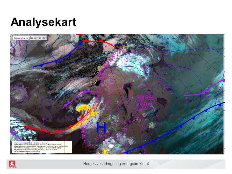 Norges vassdrags- og energidirektorat Prognosekart