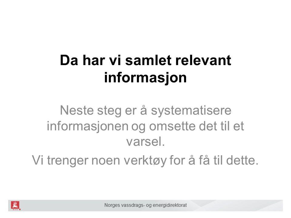 Norges vassdrags- og energidirektorat Farevurderingen Snødekket Været Terrenget Skredvarsel Fare- vurdering