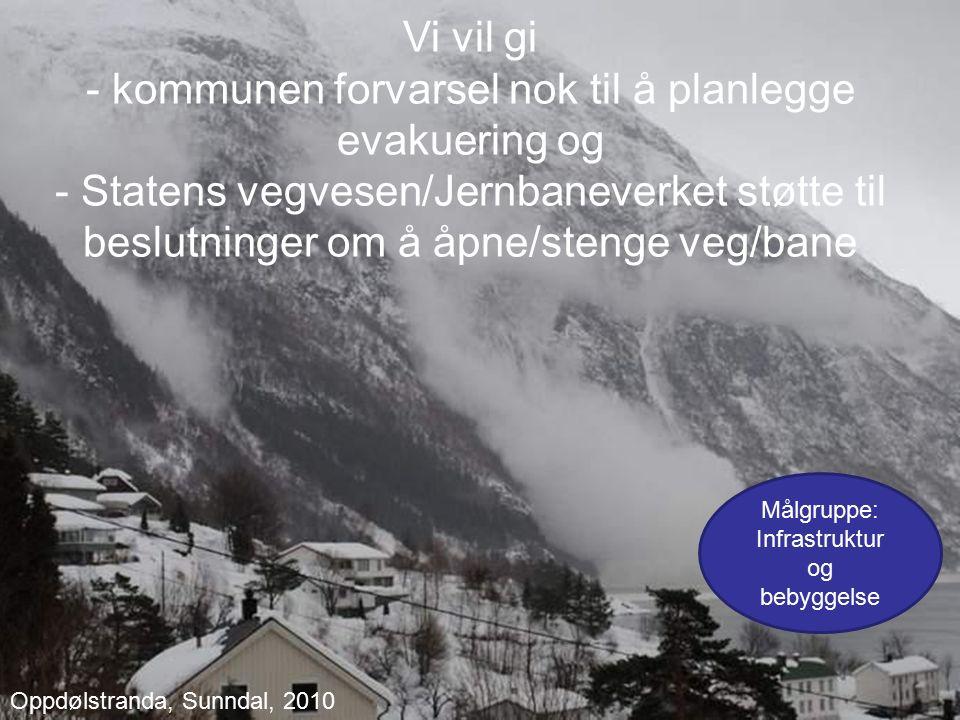 Norges vassdrags- og energidirektorat Avsløre og forutsi ustabilitet i snødekket Anslå sannsynlighet for skred, type og størrelse Foto: Ådne Olsrud