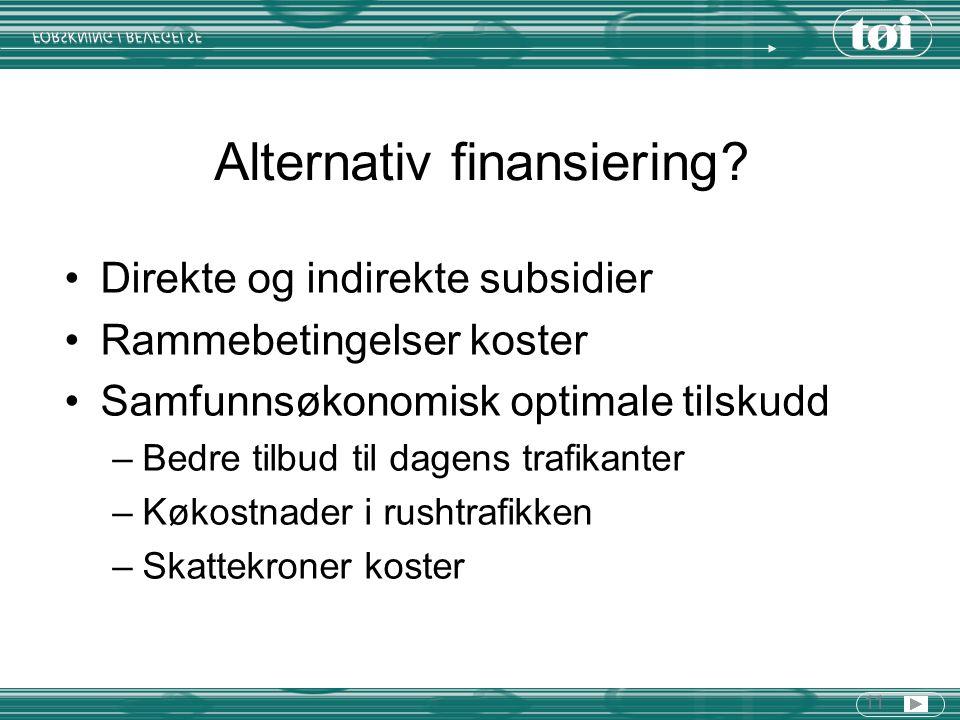 11 Alternativ finansiering.