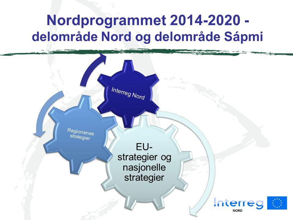 Nordprogrammet 2014-2020 Innsatsområder Forskning og innovasjon Entreprenørskap Kultur og miljø Felles arbetsmarked