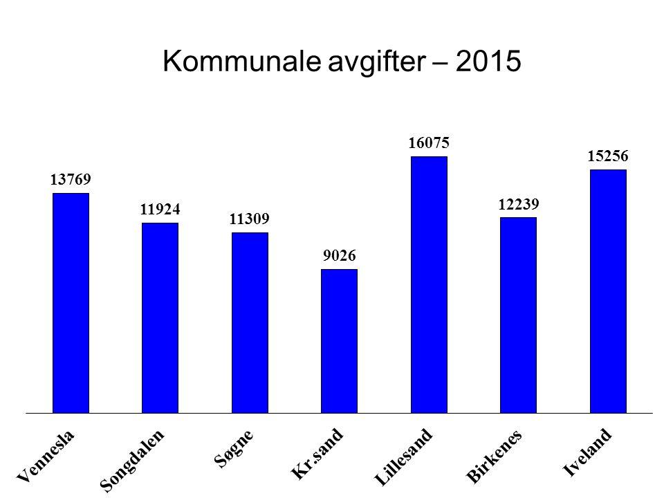 Kommunale avgifter – 2015