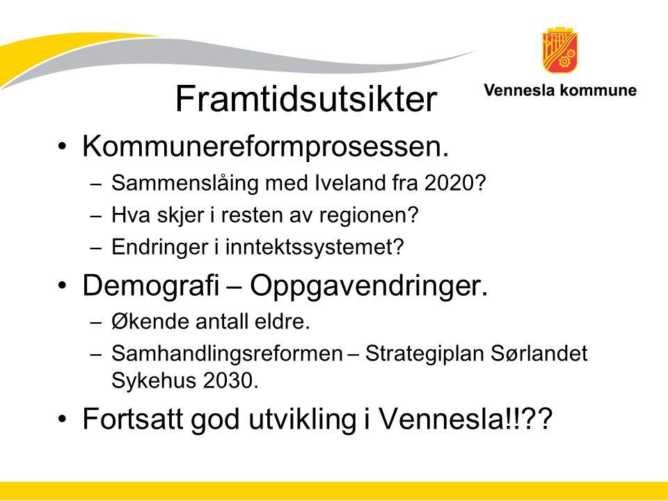 Framtidsutsikter Kommunereformprosessen. –Sammenslåing med Iveland fra 2020.