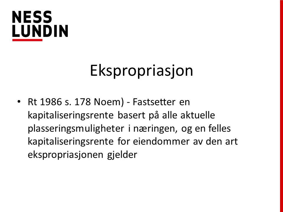Ekspropriasjon Rt 1986 s.