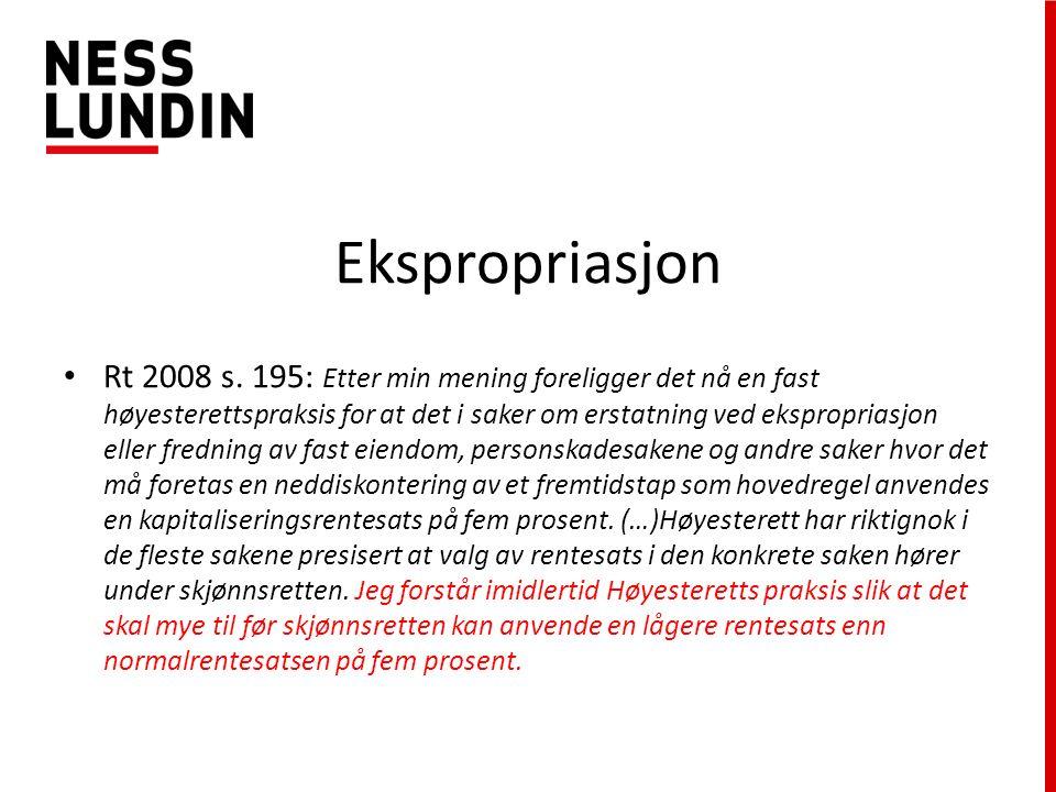 Ekspropriasjon Rt 2008 s.