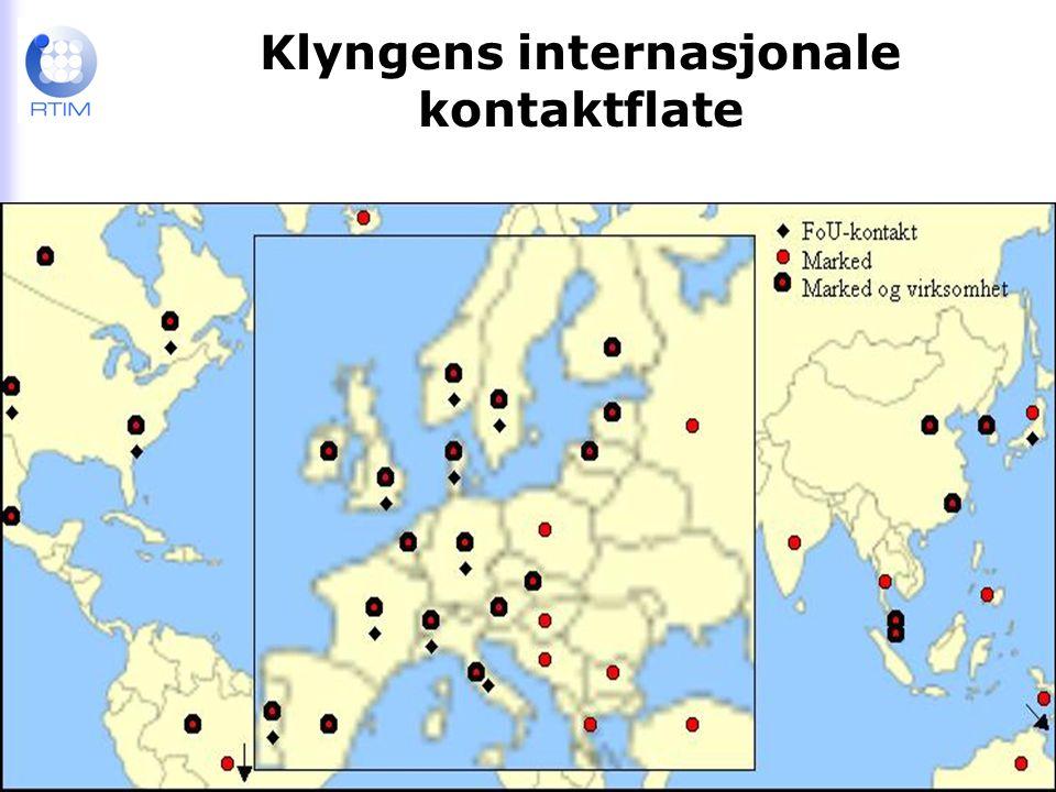RTIM Raufoss Technology & Industrial Management Klyngens internasjonale kontaktflate