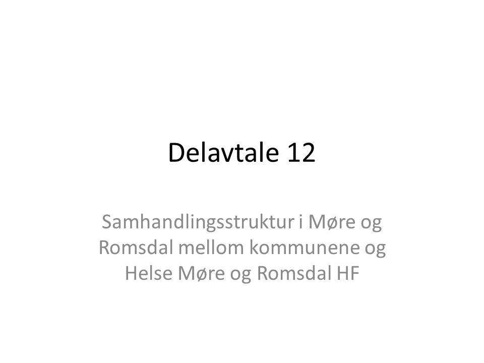 Delavtale 12 Samhandlingsstruktur i Møre og Romsdal mellom kommunene og Helse Møre og Romsdal HF