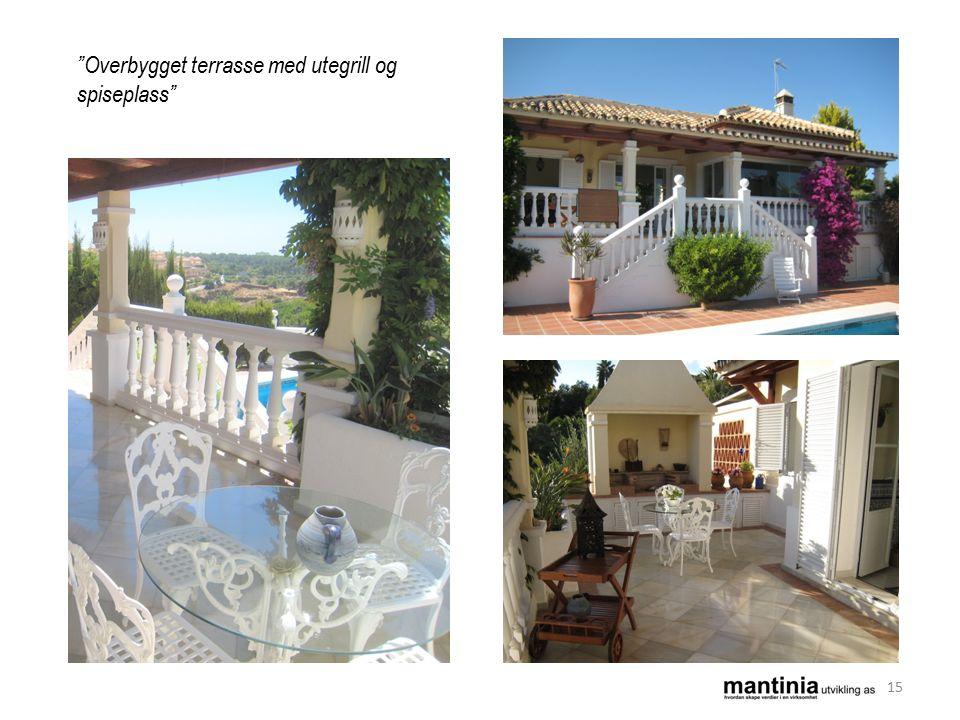 Overbygget terrasse med utegrill og spiseplass 15