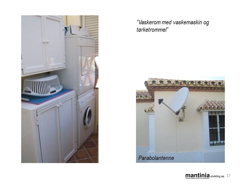 Vaskerom med vaskemaskin og tørketrommel Parabolantenne 17