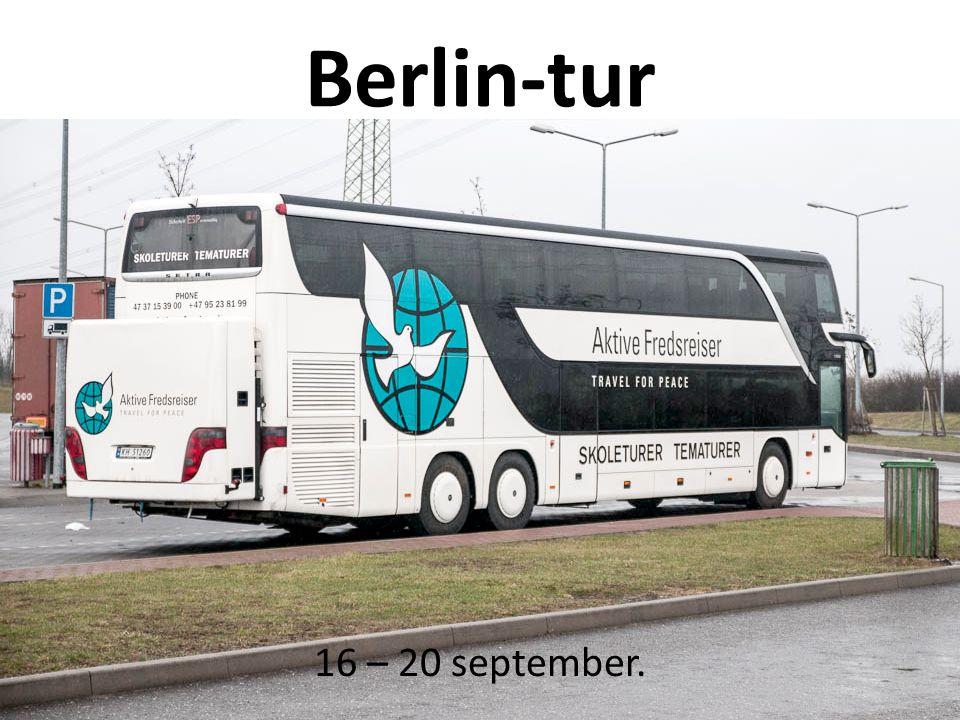 Berlin-tur 16 – 20 september.