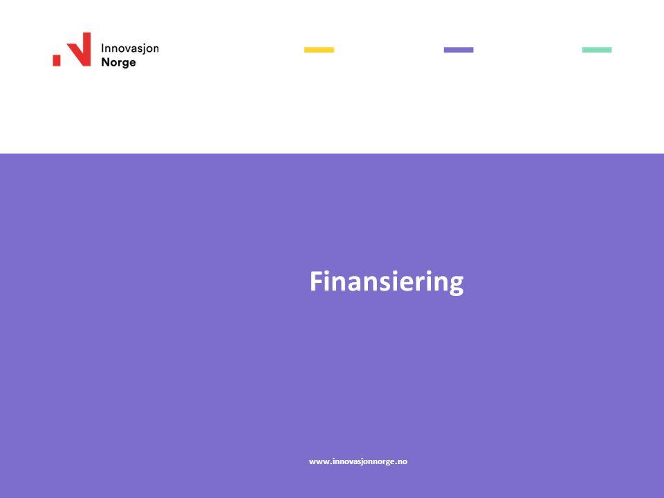 Finansiering www.innovasjonnorge.no