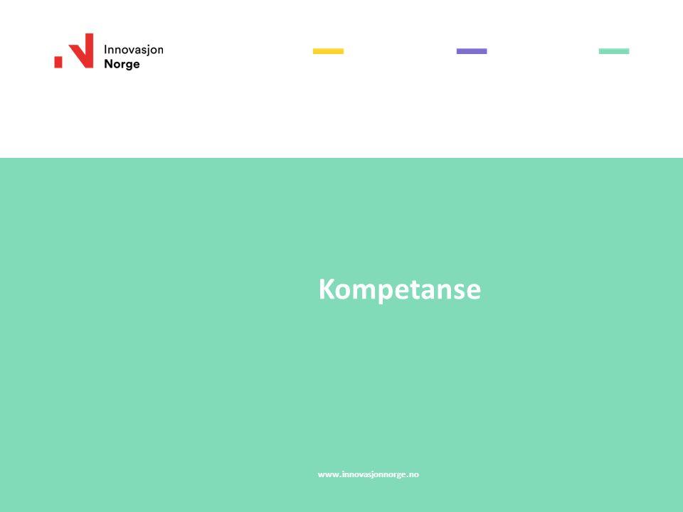 Kompetanse www.innovasjonnorge.no
