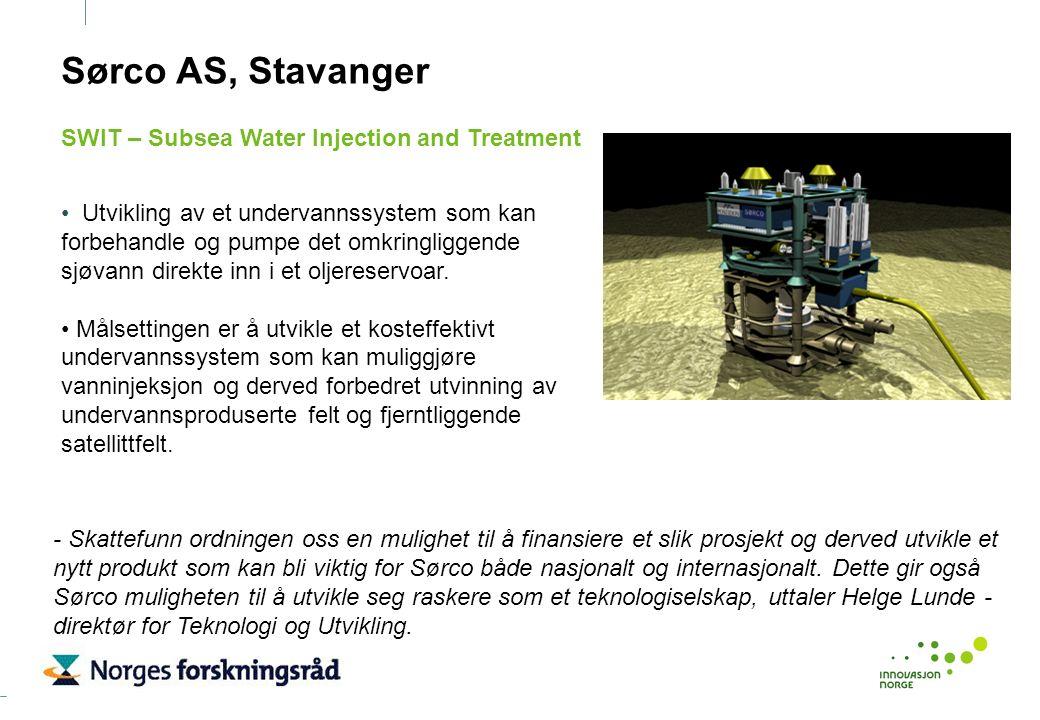 Utvikling av et undervannssystem som kan forbehandle og pumpe det omkringliggende sjøvann direkte inn i et oljereservoar. Målsettingen er å utvikle et