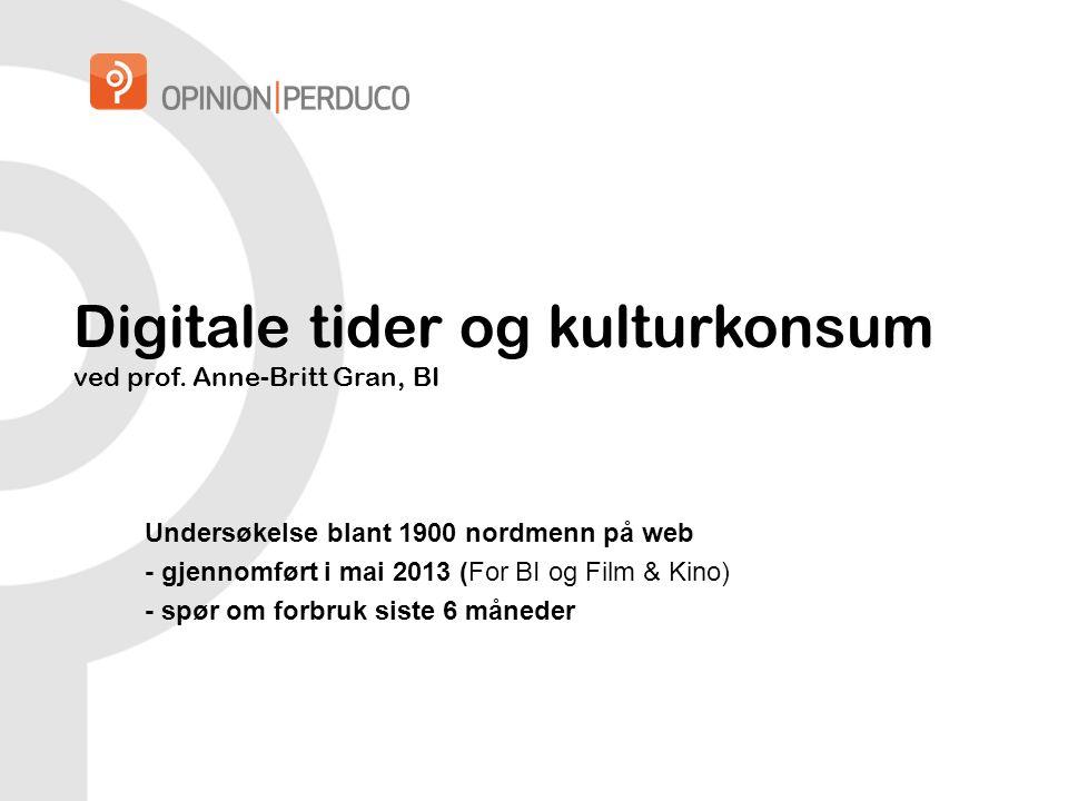 Digitale tider og kulturkonsum ved prof.