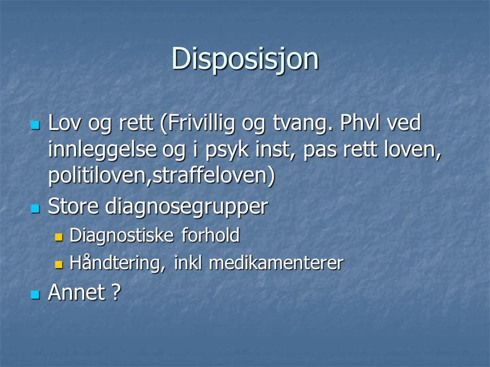 Disposisjon Lov og rett (Frivillig og tvang.