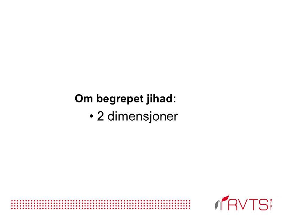Om begrepet jihad: 2 dimensjoner