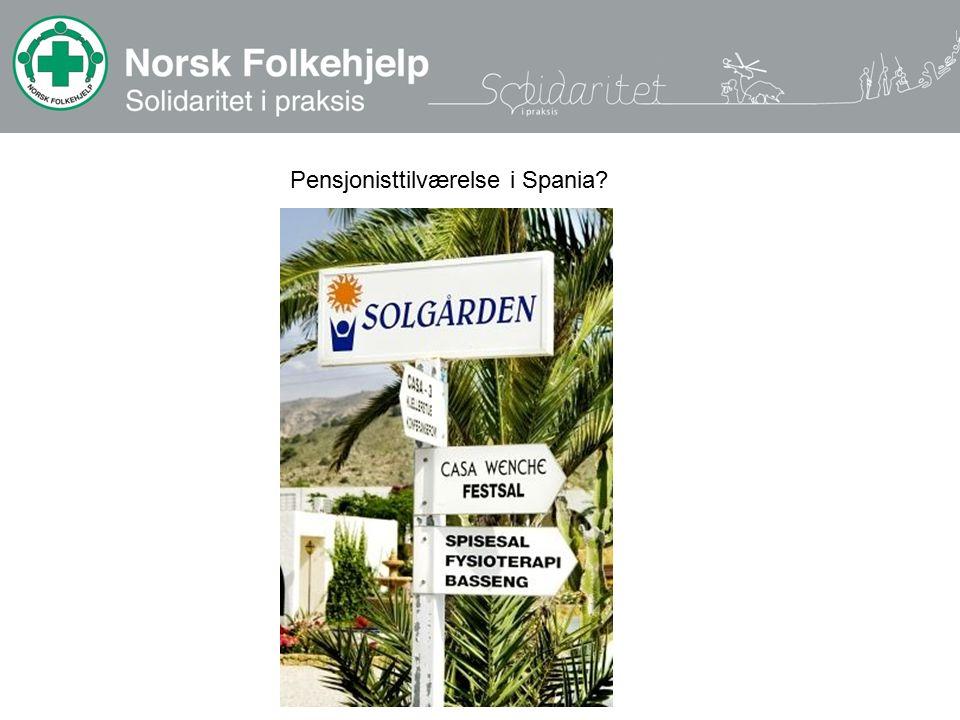 Pensjonisttilværelse i Spania?