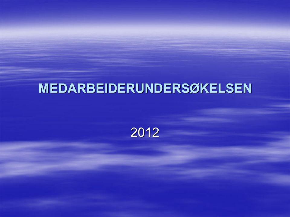 MEDARBEIDERUNDERSØKELSEN 2012