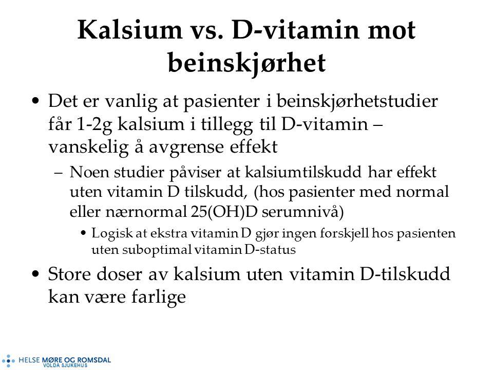 VOLDA SJUKEHUS Kalsium vs.