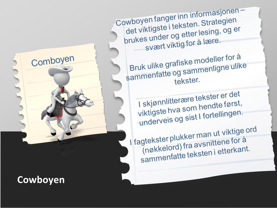 Cowboyen Comboyen Cowboyen fanger inn informasjonen – det viktigste i teksten.