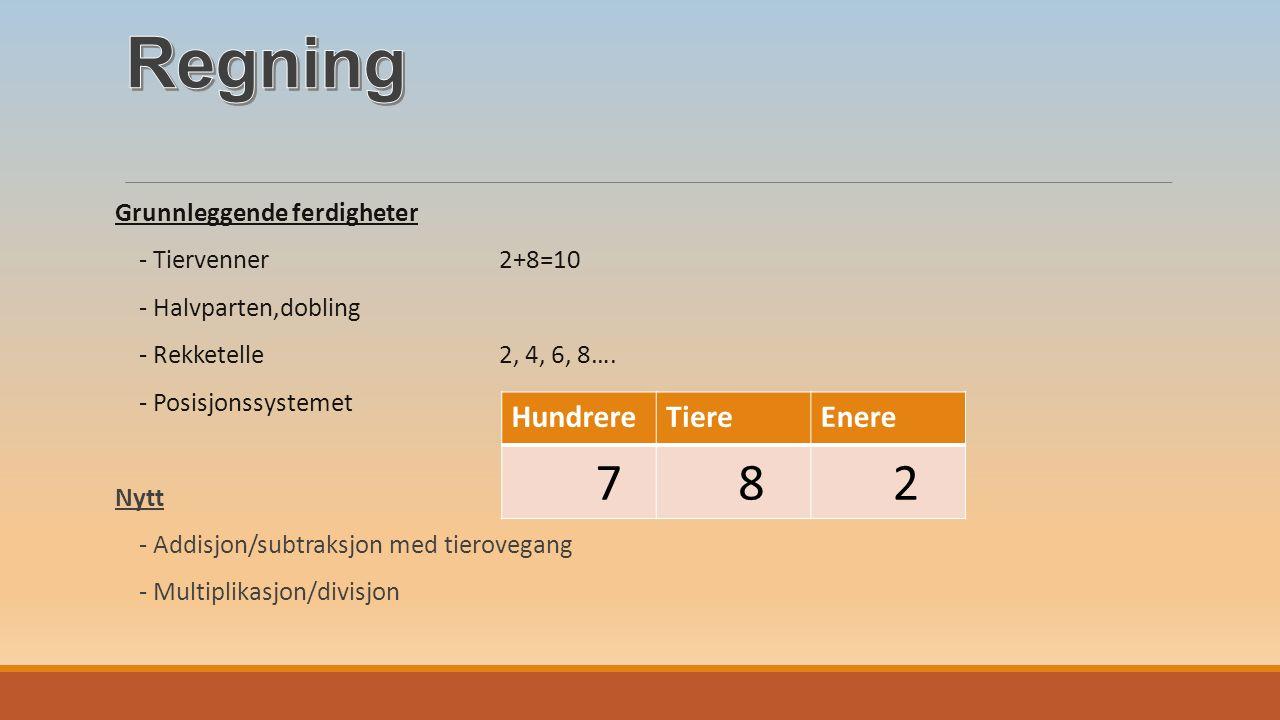 Grunnleggende ferdigheter - Tiervenner 2+8=10 - Halvparten,dobling - Rekketelle 2, 4, 6, 8….