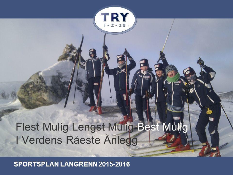 Flest Mulig Lengst Mulig Best Mulig I Verdens Råeste Anlegg SPORTSPLAN LANGRENN 2015-2016