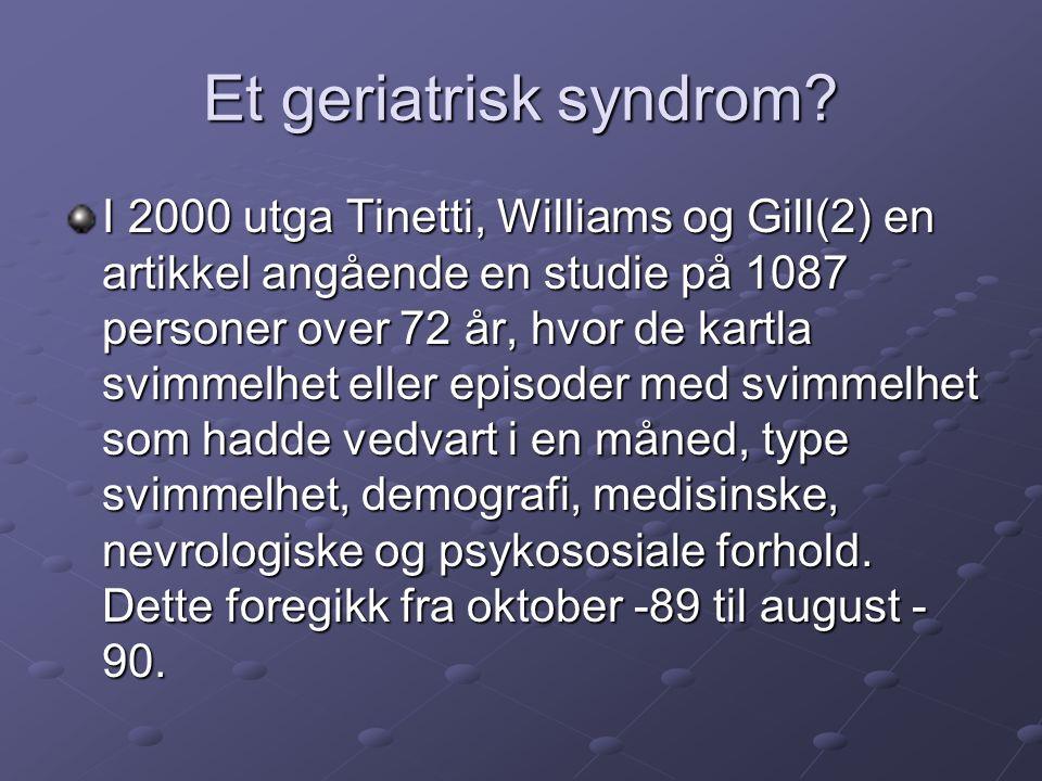 Et geriatrisk syndrom.