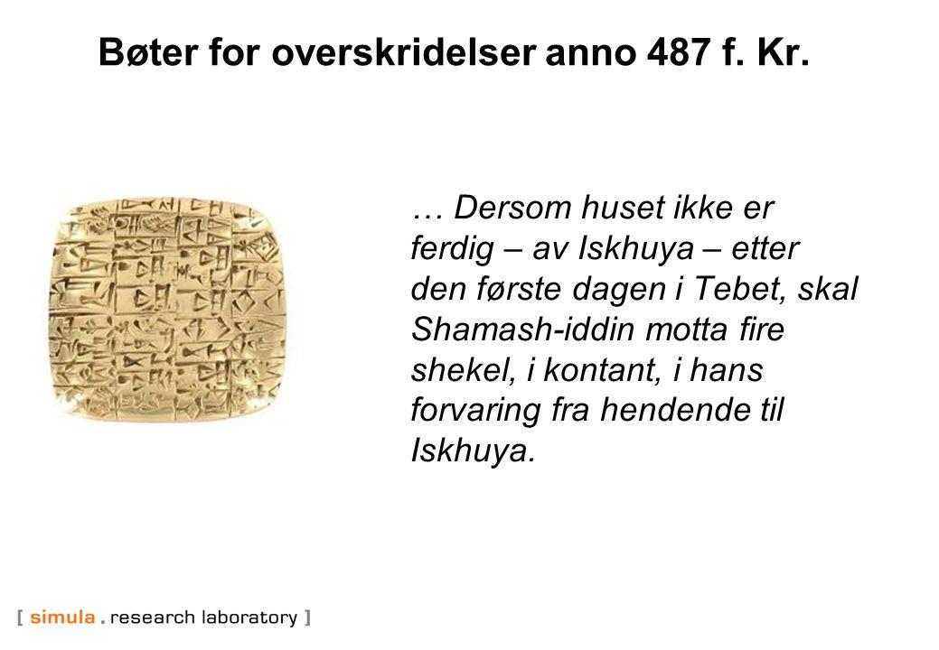 Bøter for overskridelser anno 487 f. Kr.