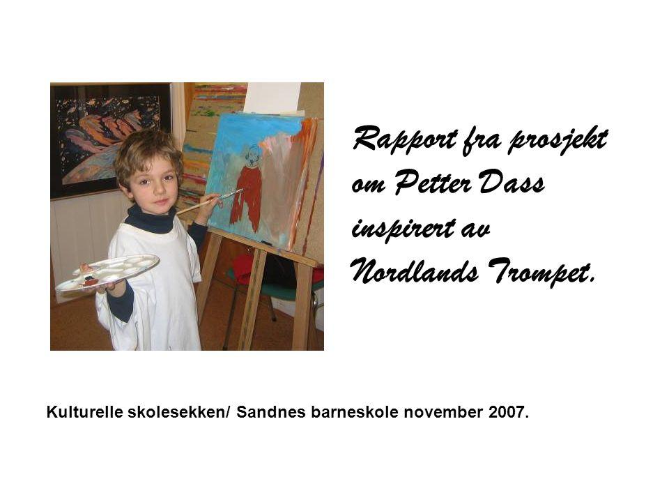 Verkstedene I dagene før kunst og håndverksdagene gjorde elevene seg kjent med Petter Dass og Nordlands Trompet.