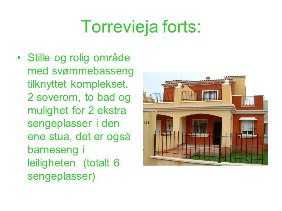 Torrevieja forts: Stille og rolig område med svømmebasseng tilknyttet komplekset. 2 soverom, to bad og mulighet for 2 ekstra sengeplasser i den ene st