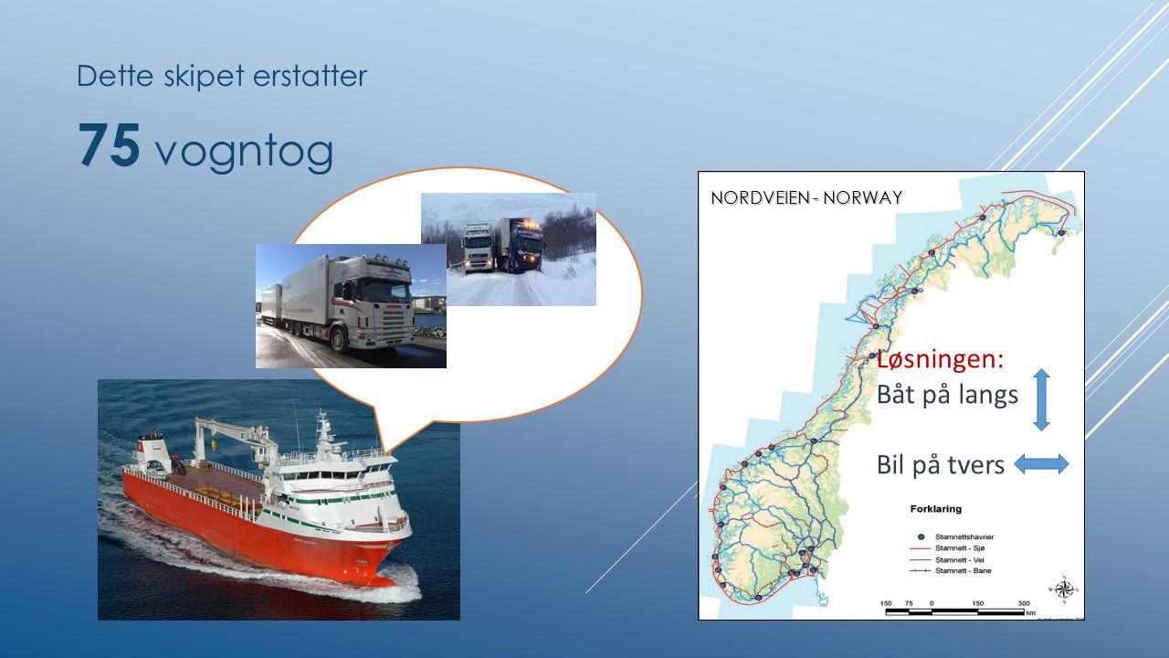 Dette skipet erstatter 75 vogntog Løsningen: Båt på langs Bil på tvers NORDVEIEN - NORWAY