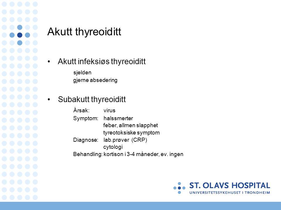 Akutt tonsillitt - behandling - Antibiotika .