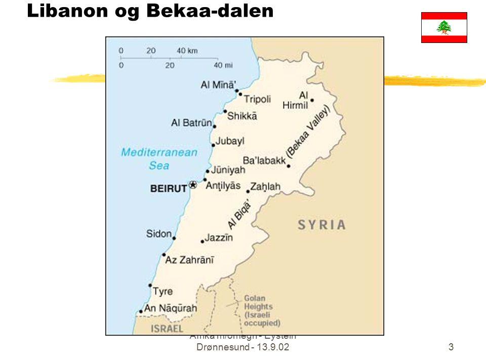 Afrika m/omegn - Eystein Drønnesund - 13.9.023 Libanon og Bekaa-dalen