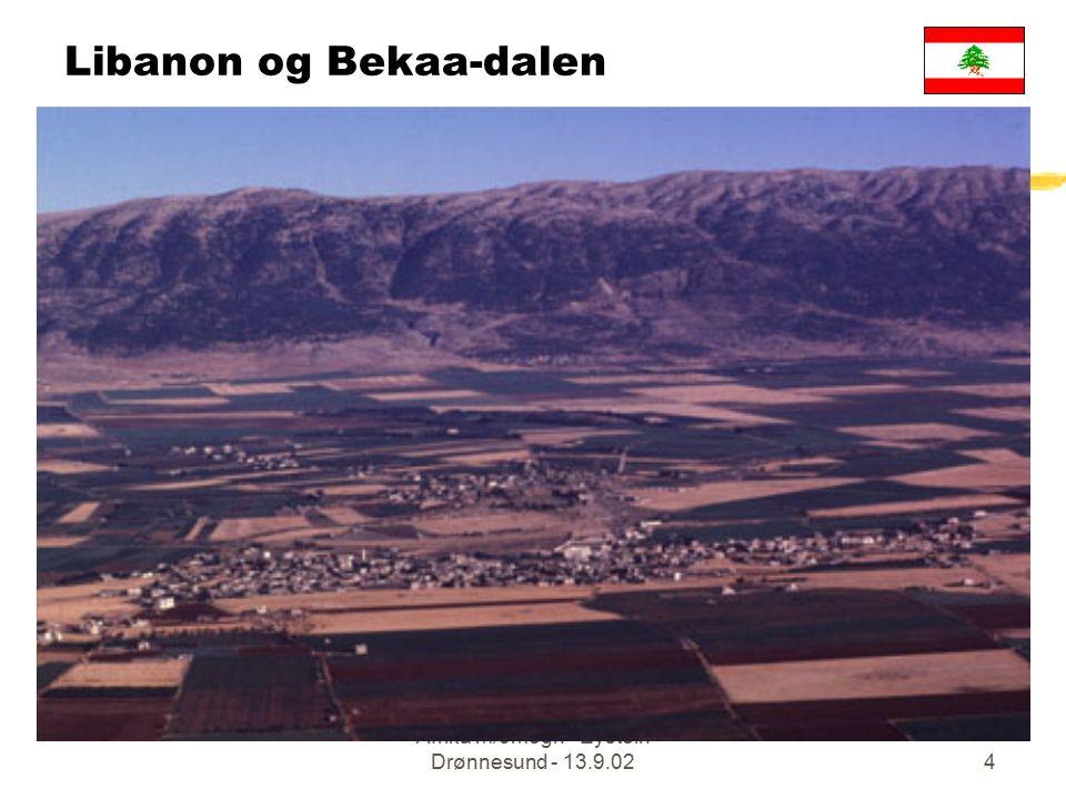 Afrika m/omegn - Eystein Drønnesund - 13.9.024 Libanon og Bekaa-dalen