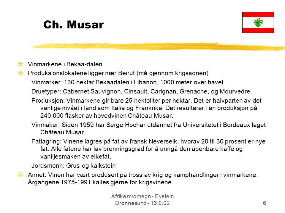 Afrika m/omegn - Eystein Drønnesund - 13.9.0217 Musar-mirakel.